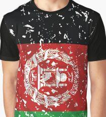 Afghanistan Grunge Vintage Flag Graphic T-Shirt