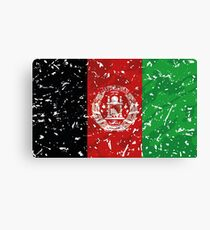 Afghanistan Grunge Vintage Flag Canvas Print