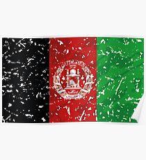 Afghanistan Grunge Vintage Flag Poster