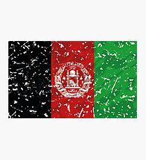 Afghanistan grunge vintage flag Photographic Print