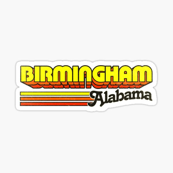 Birmingham, AL   City Stripes Sticker