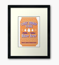 Comic Fanboy Tears Bitter Beer - Can Framed Print
