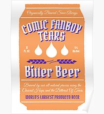 Comic Fanboy Tears Bitter Beer - Can Poster
