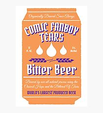 Comic Fanboy Tears Bitter Beer - Can Photographic Print