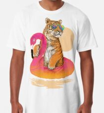 Chillin, Flamingo-Tiger Longshirt