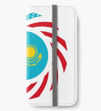 Kazakhstani American Multinational Patriot Flag Series iPhone Wallet