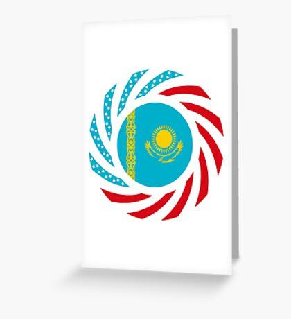 Kazakhstani American Multinational Patriot Flag Series Greeting Card