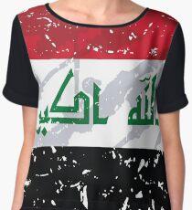 Iraq Grunge Vintage Flag Women's Chiffon Top