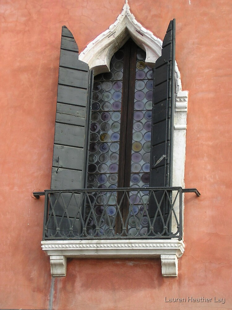 Venice window with shutters by Lauren Heather Lay