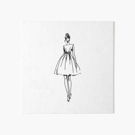 Fashion Sketch Art Board Print