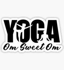Yoga Om Sweet Om Sticker