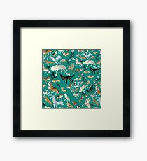 Wolves of the World (pattern) (c) 2017 Framed Print