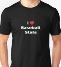 I Love Baseball Stats Shirt Funny Sports Statistics Tee T-Shirt