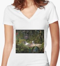 Howl's room Women's Fitted V-Neck T-Shirt
