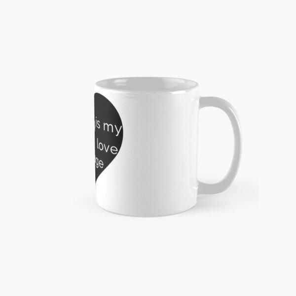 Coffee is my Love Language - Black Heart Mug Classic Mug