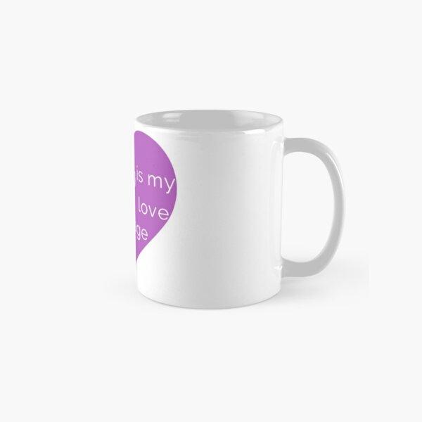 Coffee is my Love Language - Purple Heart Mug Classic Mug