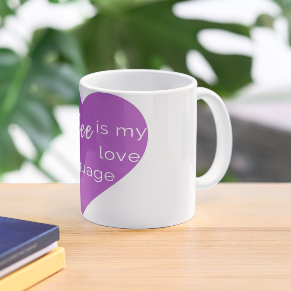 Coffee is my Love Language - Purple Heart Mug Mug