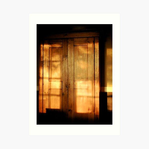 Cabinet Burnish At Sunset Art Print