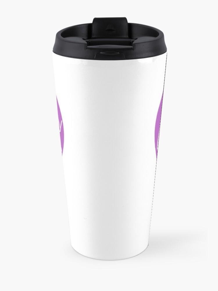 Alternate view of Coffee is my Love Language - Purple Heart Mug Travel Mug