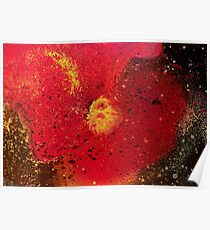 Red Yellow Black Spray Paint Poster