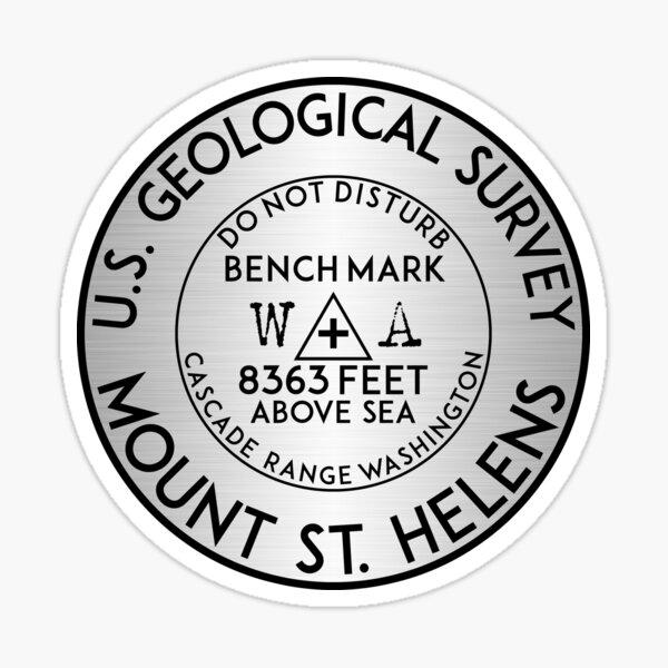 MOUNT SAINT HELENS BENCHMARK WASHINGTON USGS VOLCANO ST GEOCACHING CASCADES Sticker