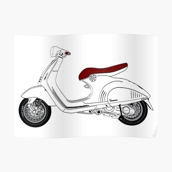 Vespa scooter Poster