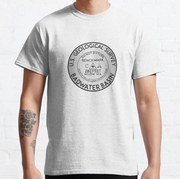 BADWATER BASIN DEATH VALLEY NATIONAL PARK GEOCACHING USGS CALIFORNIA BENCHMARK BENCH MARK Classic T-Shirt