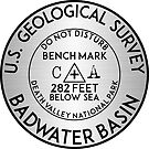 BADWATER BASIN DEATH VALLEY NATIONAL PARK GEOCACHING USGS CALIFORNIA BENCHMARK BENCH MARK by MyHandmadeSigns
