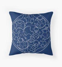 Gallifreyan Sherlock (White Print) Throw Pillow