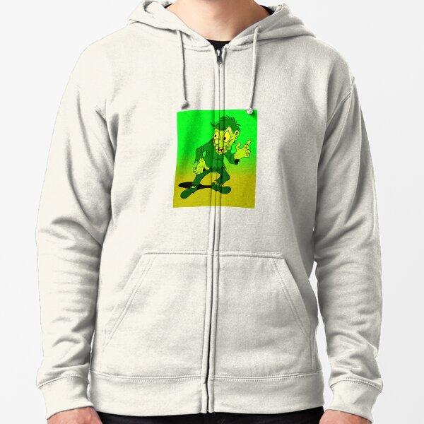 Putrid green hunchback Zipped Hoodie