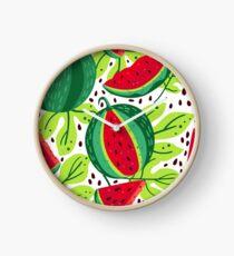 Juicy and sweet watermelon Clock