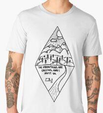 The Mountains Are Calling Diamond Men's Premium T-Shirt