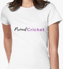 Proud Cricket in Black & Purple T-Shirt Women's Fitted T-Shirt