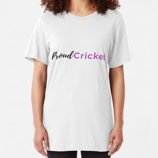 Proud Cricket in Black & Purple T-Shirt Slim Fit T-Shirt