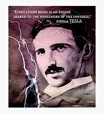 Nikola Tesla - quote Photographic Print