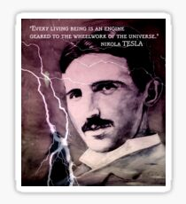 Nikola Tesla - quote Sticker