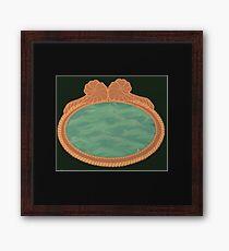 Framed mirror to the ocean/ green desert Framed Print