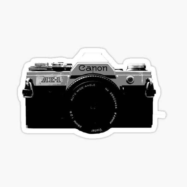 Canon AE-1 - Posterised Sticker