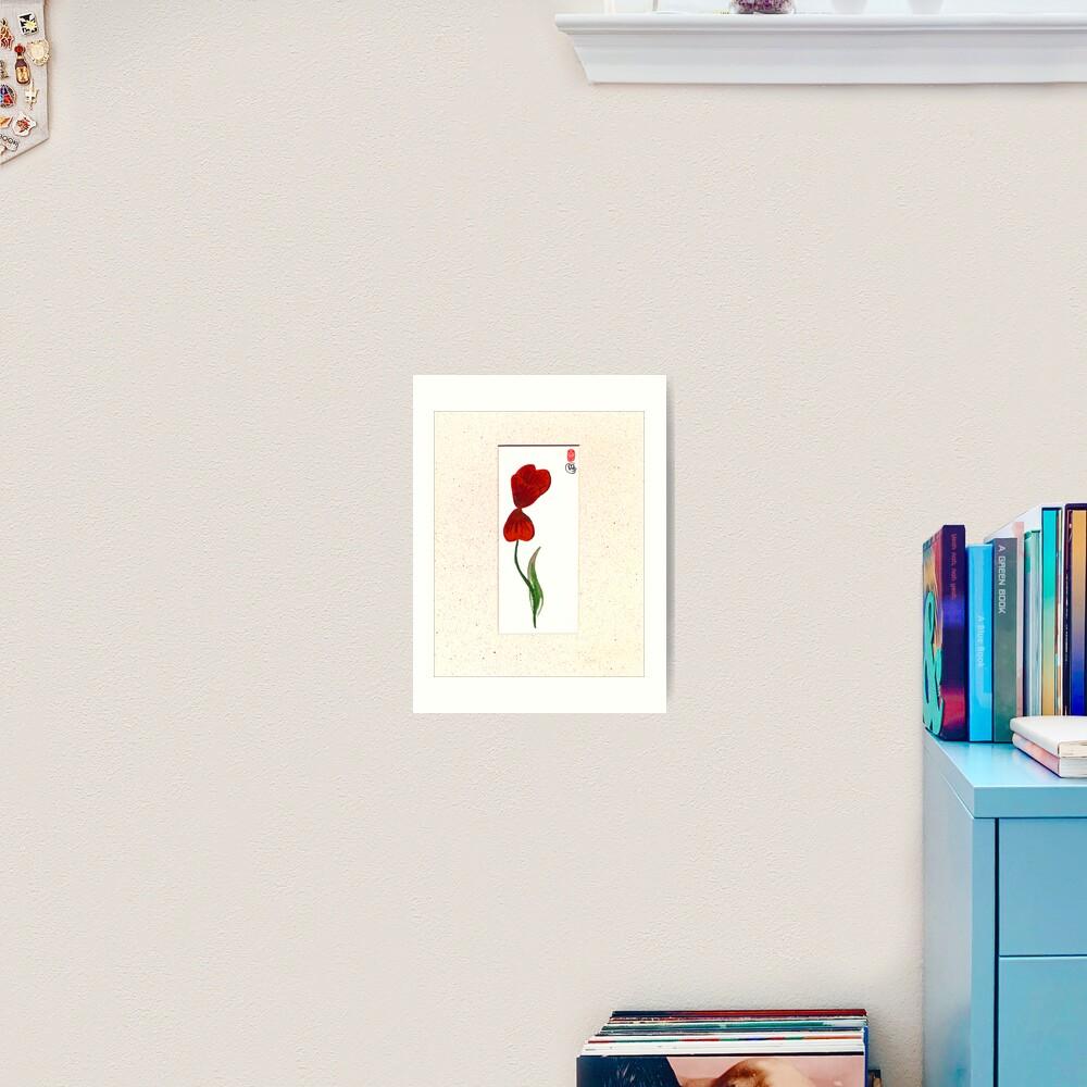 Tulip Breeze Art Print