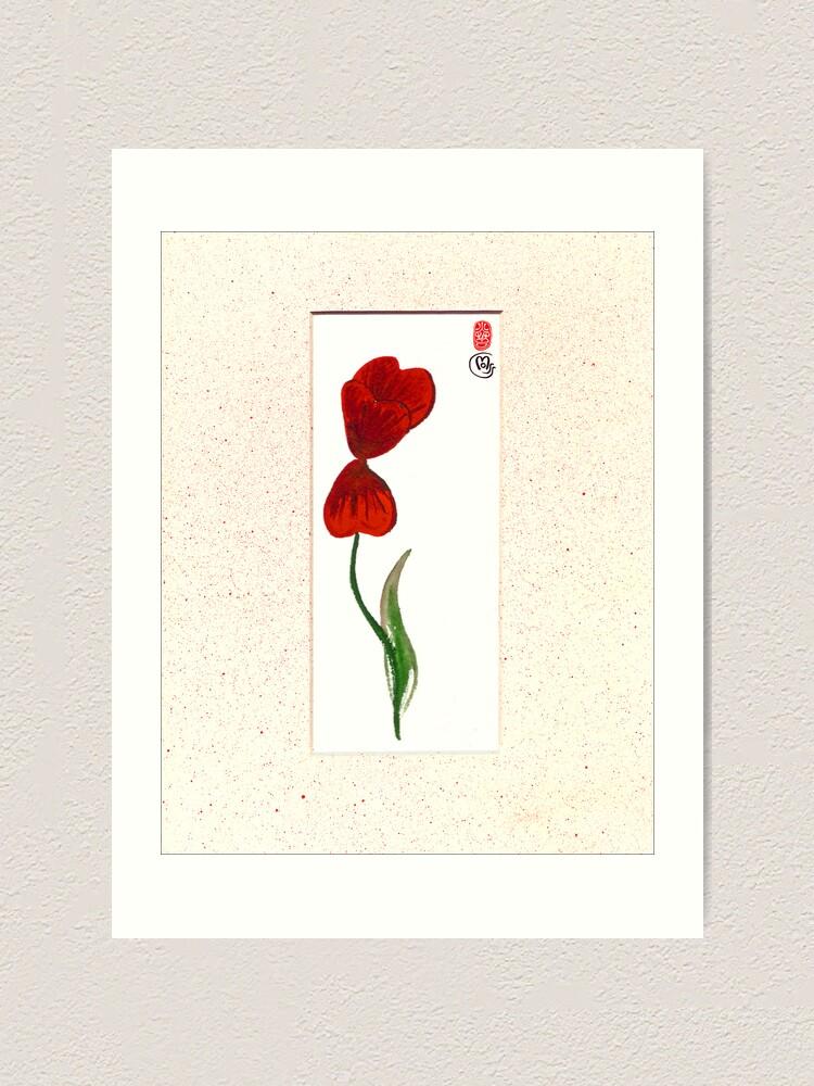 Alternate view of Tulip Breeze Art Print