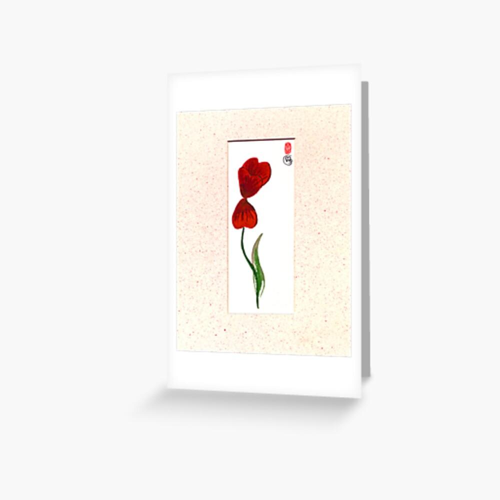 Tulip Breeze Greeting Card