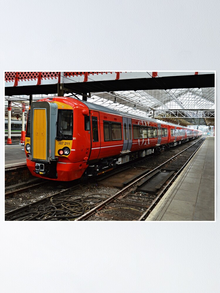 Alternate view of Gatwick Express class 387 at Crewe Railways Station Poster