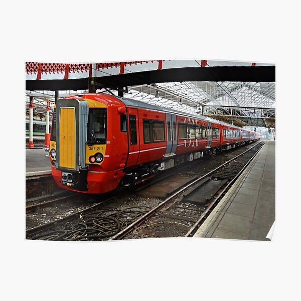 Gatwick Express class 387 at Crewe Railways Station Poster
