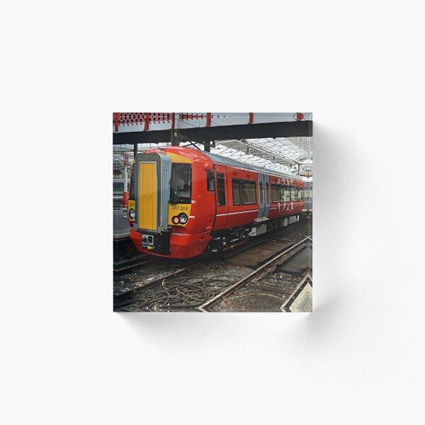 Gatwick Express class 387 at Crewe Railways Station Acrylic Block