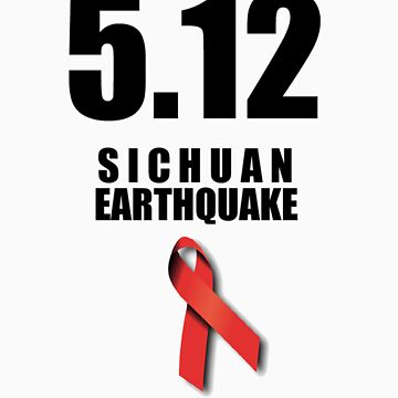 Sichuan Earthquake Relief Ribbon 2 by icaretees