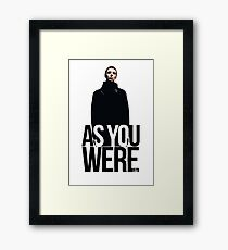 Liam Gallagher // As You Were Polarized image Framed Print