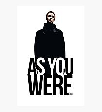 Liam Gallagher // As You Were Polarized image Photographic Print