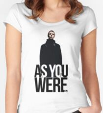 Liam Gallagher // As You Were Polarized image Women's Fitted Scoop T-Shirt