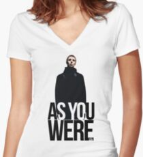 Liam Gallagher // As You Were Polarized image Women's Fitted V-Neck T-Shirt