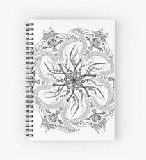 "Manta Ray Spiral Mandala Tribal and Native Style Print - Large Scale Print - 50""x50"" Spiral Notebook"